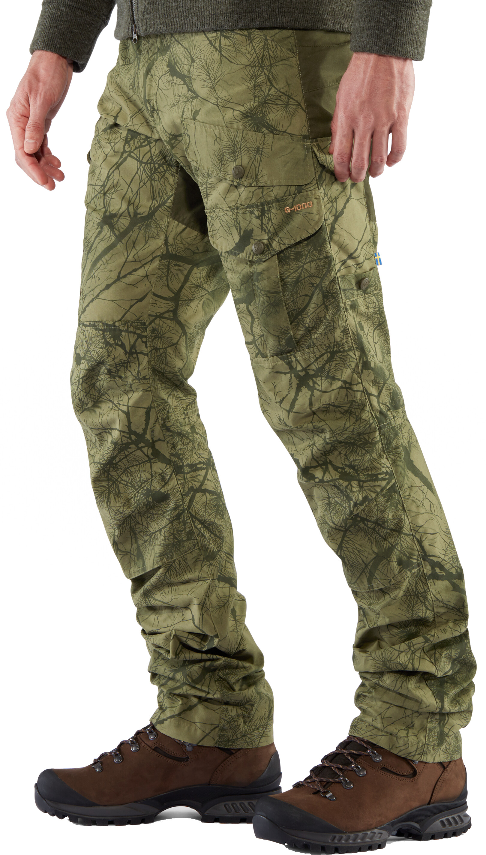 Fjallraven Barents Pro Hunting Trousers Green Camo SALE EVENT Deep Forest